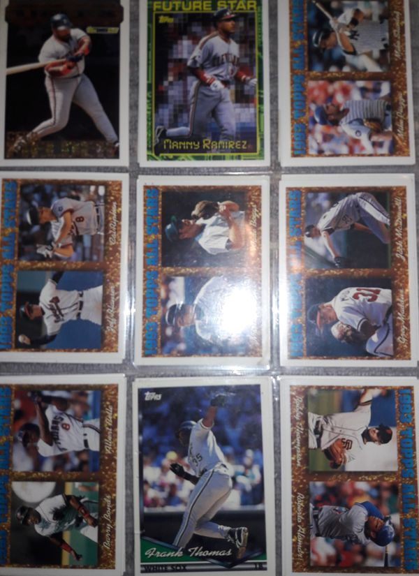 - over 100 tops baseball cards Ken Griffey Jr and Edgar Martinez and Randy Johnson and many many more