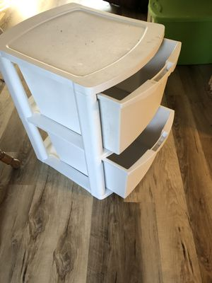 Large plastic bin. 2 drawers for Sale in St. Charles, IL