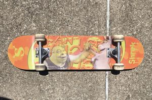 Shrek Skateboard lenticular metal trucks great shape variflex skate board vintage wheels for Sale in Cleveland, OH