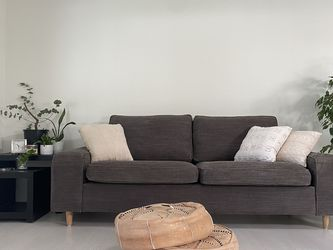 Slate Gray Taupe 3 Seater Couch for Sale in Lacey,  WA