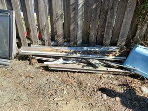 Aluminum door and frams and scrap wood for Sale in Gresham, OR