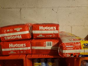 Huggies size 2 diapers for Sale in ARSENAL, PA