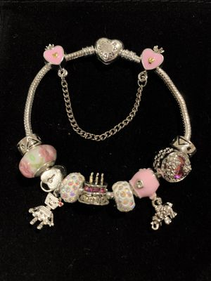"""Pandora style bracelet. bracelet size: 7"""" 1/2. 19cm. If you need another size of the bracelet, ask me I can change it. for Sale in Fullerton, CA"""