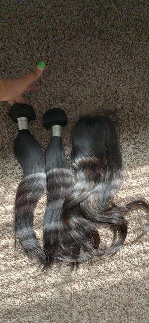 "2-""14"" with ""14"" closure Brazilian Human Hair for Sale in McDonough, GA"
