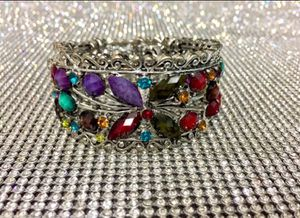 Elegant Stainless Steel and Crystal Gemstone Bracelet for Sale in New York, NY