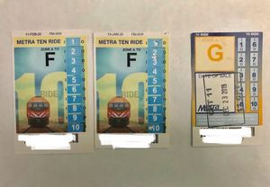 Metra 10 ride tickets pass for Sale in Arlington Heights, IL
