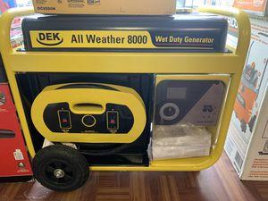 New DEK 8,000 Watts Generator for Sale in Newton, MA