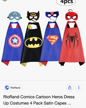 New dress up capes and masks for Sale in Sandy, UT