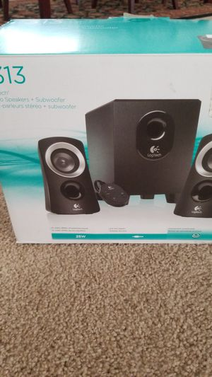 Logitech Stereo Speakers and Subwoofer for Sale in Lima, OH