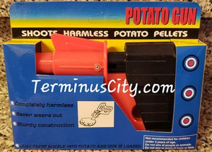 Toy Potato Pellets Gun Plastic Fun Play With Your Food! Kitchen Chef Cook Games. Kids & Adults Harmless Toy Guns for Sale in Marietta, GA