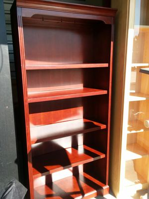 Solid Cherry wood bookcase for Sale in Fredericksburg, VA