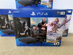 PS4 1TB Slim Brand New Sealed with 3 games for Sale in Bellflower, CA