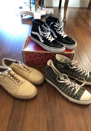 Mens Converse and Vans Shoes for Sale in Santa Monica, CA