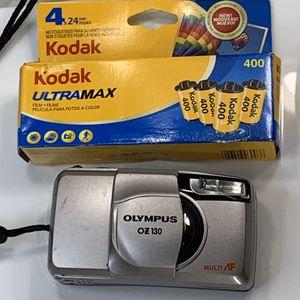 Olympus OZ 130 35MM Camera + 4 New Rolls of Film for Sale in Centerton, AR