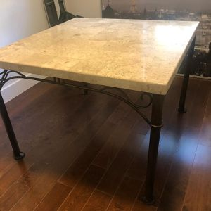 Beautiful Stone Dinning Table with Iron legs good for indoor/outdoor for Sale in Miami, FL