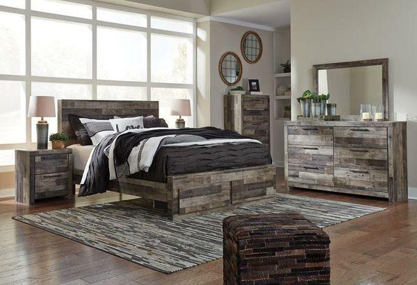 🍃good price🍃Gray Footboard Storage Platform Bedroom Set   B200 byAshley