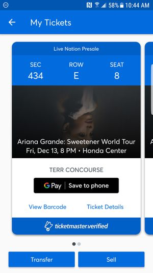Ariana grande Honda center for Sale in Anaheim, CA