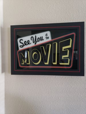Movie theater room decorations for Sale in Nipomo, CA
