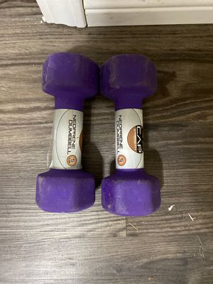 5LB purple weights for Sale in Houston, TX