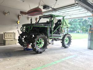 Custom built rims on 8.3 BKT tractor tires for Sale in Houston, TX