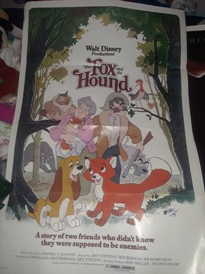 Walt Disney movie poster original 1981 for Sale in Casa Grande, AZ