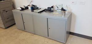 Two filing/storage cabinets with custom top for Sale in Miami, FL