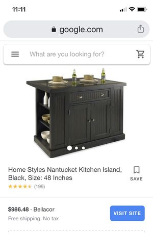 Nantucket Kitchen Island for Sale in Olmsted Falls, OH