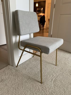 Brand New West Elm Wire Frame Upholstered Dining Chair for Sale in Houston, TX