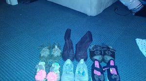 Size 5 toddler girl shoes / boots for Sale in Manchester, NH