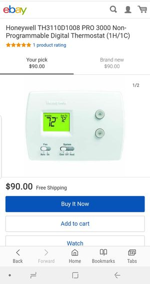 Brand new honeywell air conditioning thermostat for Sale in Stockton, CA