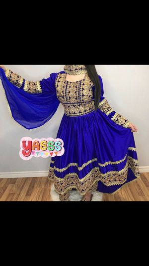 Afghan dress Eid Dress Royal Blue size large for Sale in HUNTINGTN BCH, CA