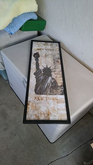New York Picture W/ Frame for Sale in Lodi, CA