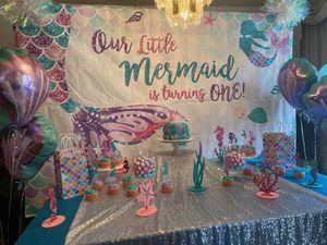 1st Birthday Mermaid Themed Decorations! for Sale in Hampton, VA