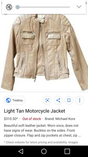 Michael Kors Motorcycle Jacket for Sale in Brighton, CO