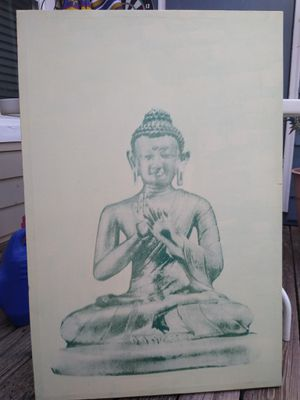 Medium Hand Painted Buddha Canvas for Sale in Greenville, SC