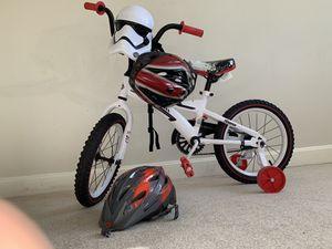 Star war kids bike 16'' + Helmet for Sale in Watertown, MA