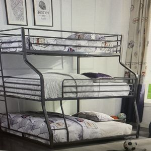 Triple Bunk Bed On sale( Twin/queen/ King ON SALE for Sale in Federal Way, WA