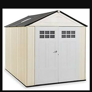 Rubbermaid Outdoor Storage Shed, 7X10, Sandstone  Size: 7x10.5 2 Colors: Sandstone  for Sale in Commerce, CA