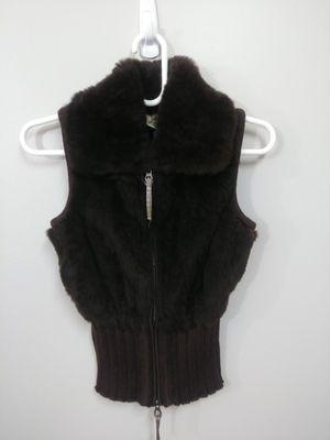 June 100% rabbit fur brown vest for Sale, used for sale  Newark, NJ