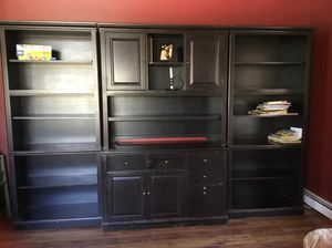 Thomasville computer hutch with 2 bookshelves for Sale in New Milford, CT