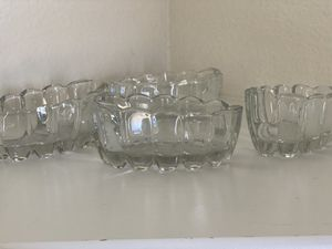 4 heavy crystal silverware stackers for Sale in McKinney, TX