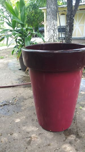 Red ombre flower pot for Sale in San Antonio, TX