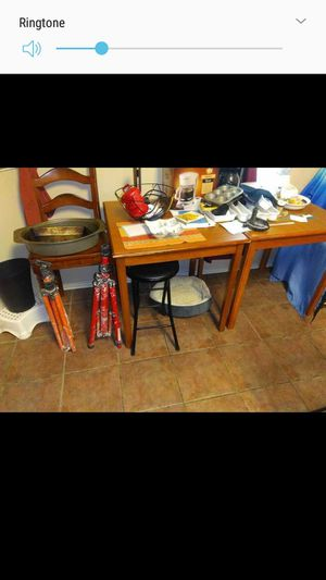 2 wooden tables great for small apartment kitchen or study for Sale in San Antonio, TX