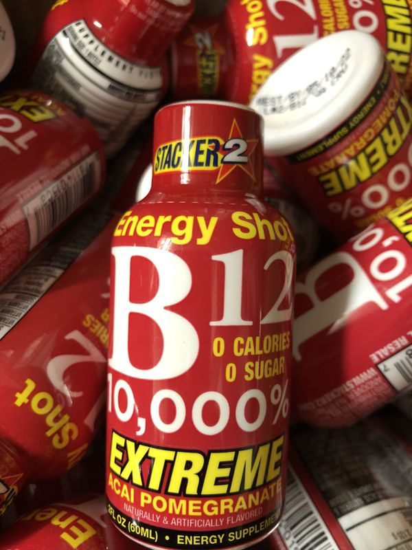 HUGE BOX OF ENERGY SHOTS STACKER 2 ALL BRAND NEW !!!!!!