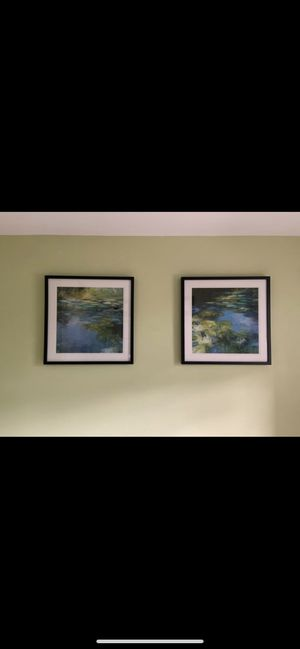 Z Gallerie Water Lilly Collection Set Framed Paintings for Sale in Washington, DC