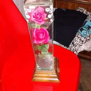 Antique Roses Encased In Glass On Wood Play Music for Sale in Merced, CA