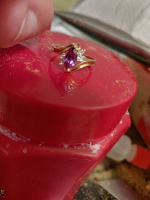 10K Solid Gold Amathyst Diamond Ring for Sale in Pinellas Park, FL
