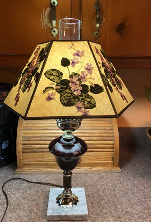 Amethyst Lamp with Shade & Marble base 💡(Vintage) for Sale in Chesapeake, VA