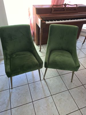 Beautiful green polyester chairs for Sale in Houston, TX
