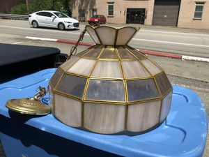 Vintage Retro Stained Glass Tiffany style light fixture for Sale in Glenshaw, PA
